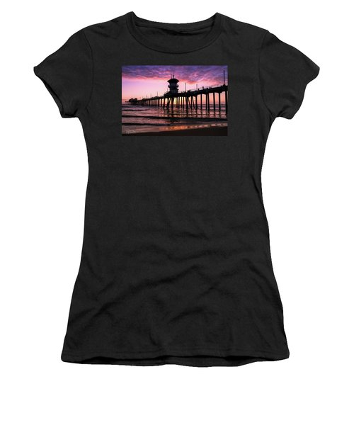 Huntington Pier At Sunset 2 Women's T-Shirt