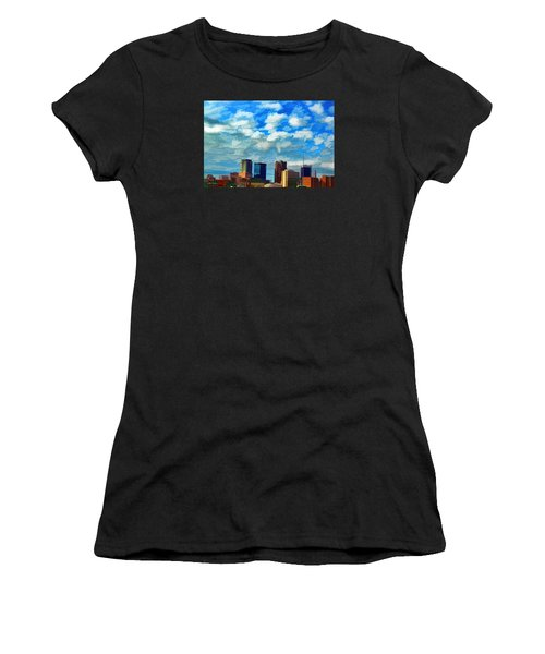 Huntsville Alabama Skyline Abstract Art Women's T-Shirt