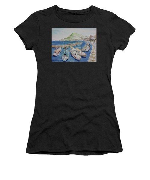 Hydra Harbor Women's T-Shirt (Athletic Fit)