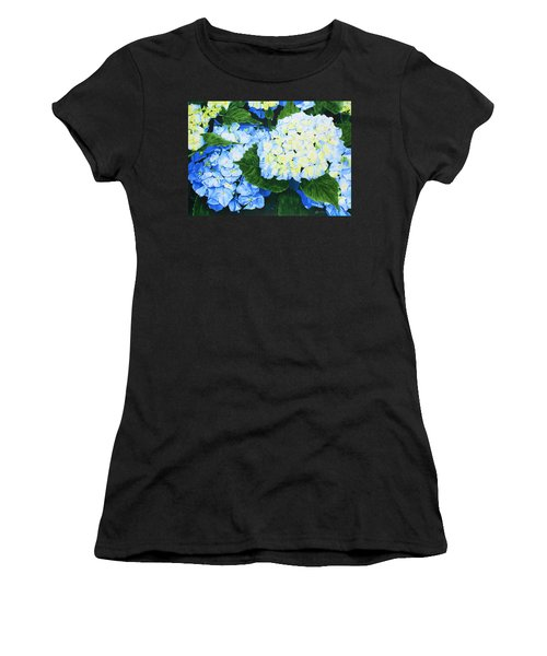 Hydrangeas Women's T-Shirt (Athletic Fit)