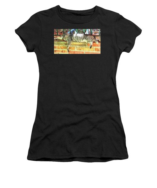 I Can Sleep Anywhere Women's T-Shirt (Athletic Fit)