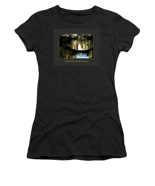 Women's T-Shirt (Junior Cut) featuring the photograph I Focus On Good Things Venice by Donna Corless
