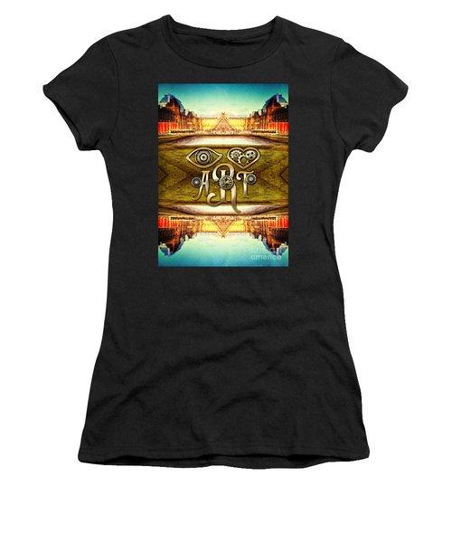 I Heart Art Louvre Museum Paris Da Vinci Gears Women's T-Shirt