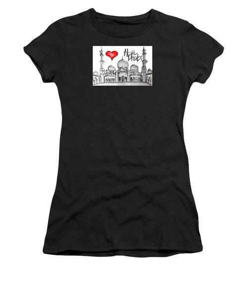 I Love Abu Dhabi Women's T-Shirt (Athletic Fit)
