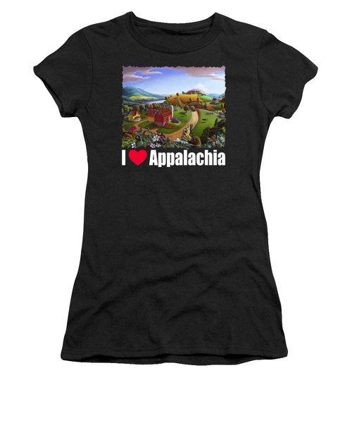I Love Appalachia T Shirt - Appalachian Blackberry Patch Rural Landscape 2 Women's T-Shirt