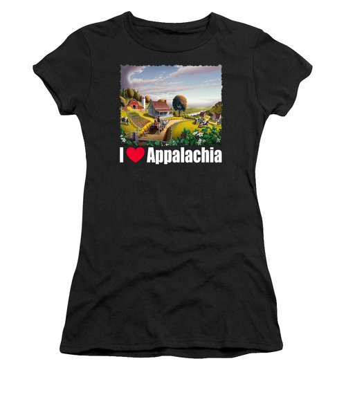 I Love Appalachia T Shirt - Appalachian Blackberry Patch Women's T-Shirt