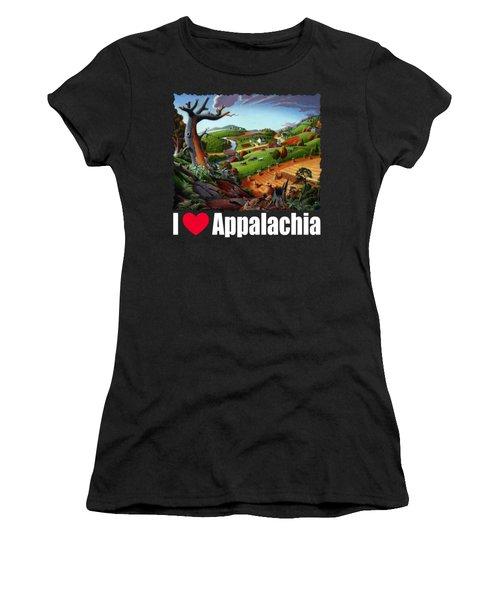 I Love Appalachia T Shirt - Autumn Rural Wheat Harvest Farm Landscape Women's T-Shirt