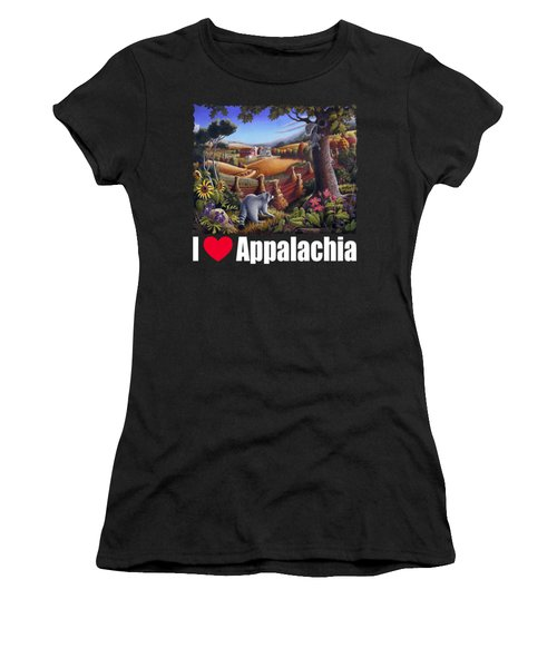 I Love Appalachia T Shirt - Coon Gap Holler 2 - Country Farm Landscape Women's T-Shirt (Athletic Fit)