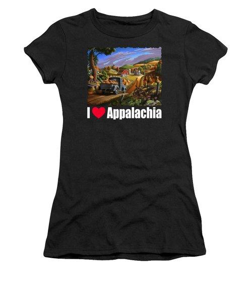 I Love Appalachia T Shirt - Taking Pumpkins To Market - Rural Appalachian Landscape 2 Women's T-Shirt