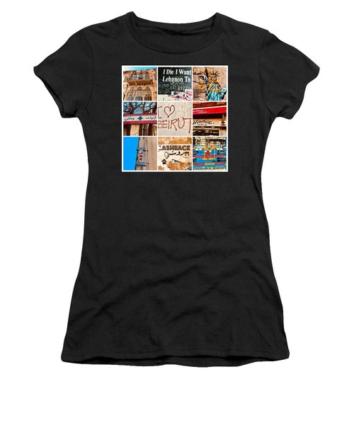I Love Beirut Women's T-Shirt (Athletic Fit)
