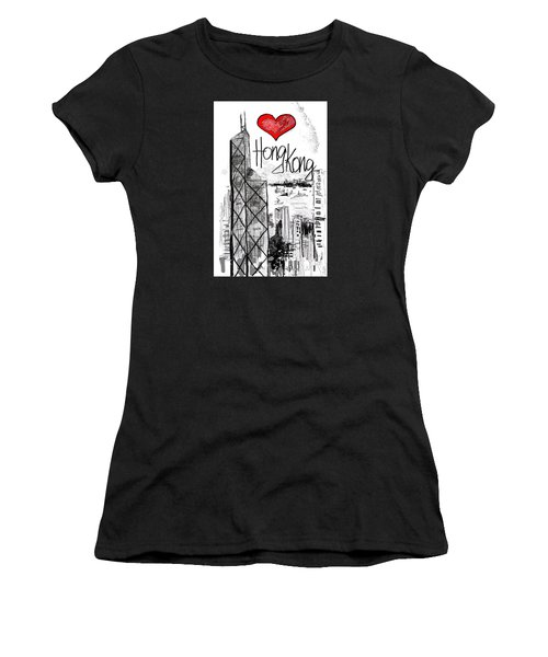 I Love Hong Kong  Women's T-Shirt (Athletic Fit)