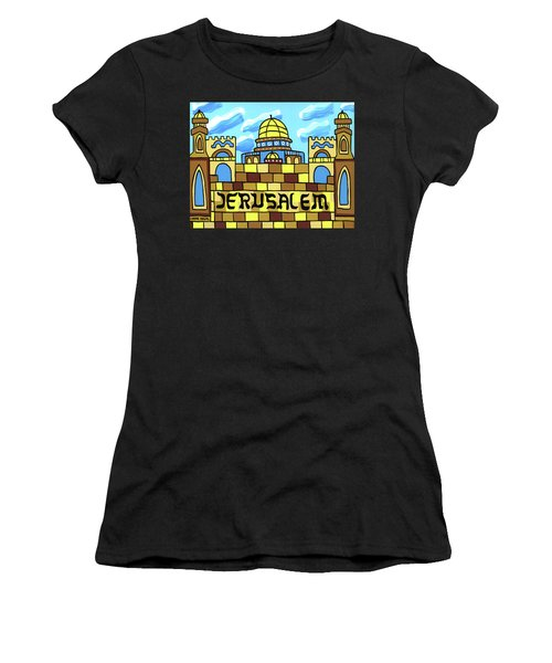 I Love Jerusalem Women's T-Shirt (Athletic Fit)