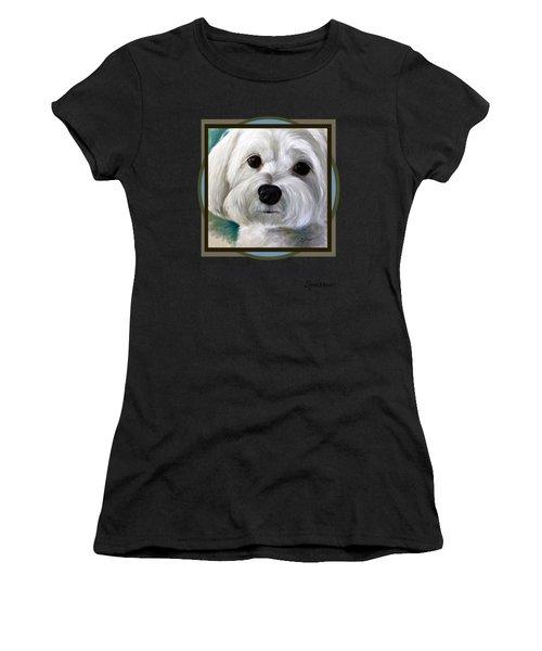 I Love My Maltese Women's T-Shirt (Athletic Fit)
