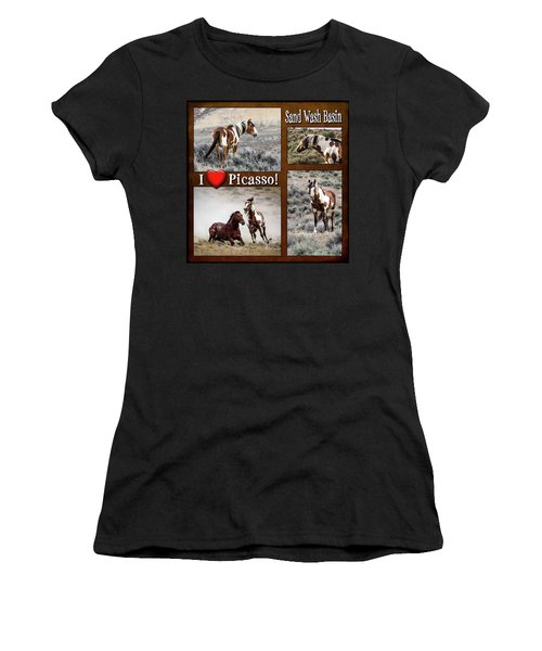 I Love Picasso Collage Women's T-Shirt (Athletic Fit)