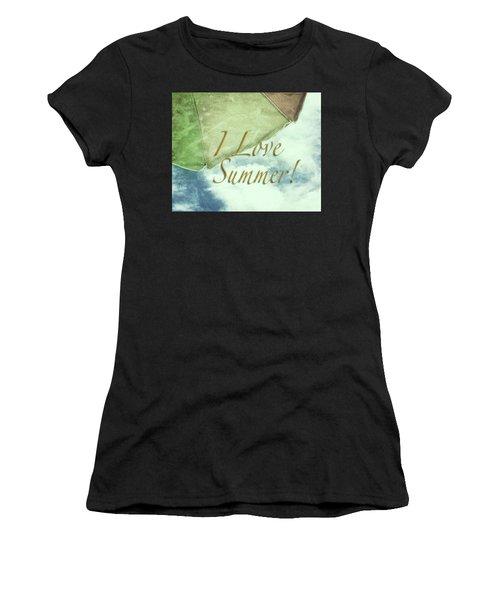 I Love Summer I Women's T-Shirt (Athletic Fit)