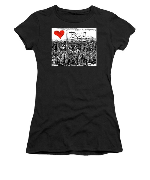 I Love Tokyo Women's T-Shirt (Junior Cut) by Sladjana Lazarevic
