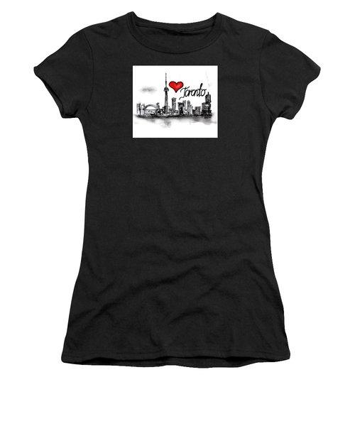 I Love Toronto Women's T-Shirt (Athletic Fit)