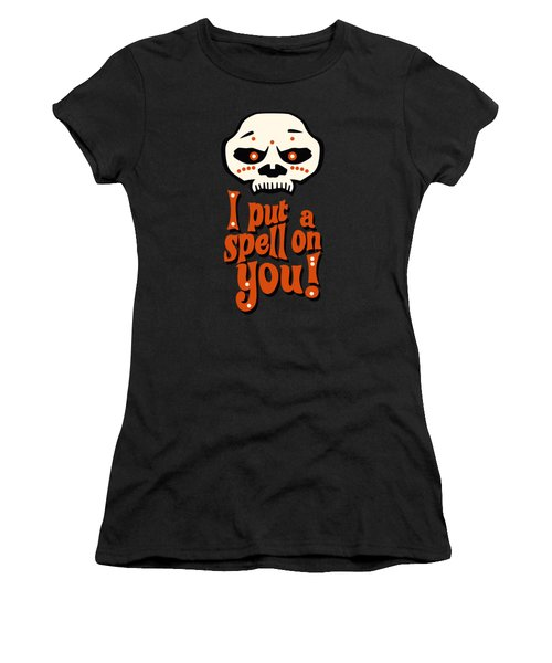 I Put A Spell On You Voodoo Retro Poster Women's T-Shirt (Athletic Fit)