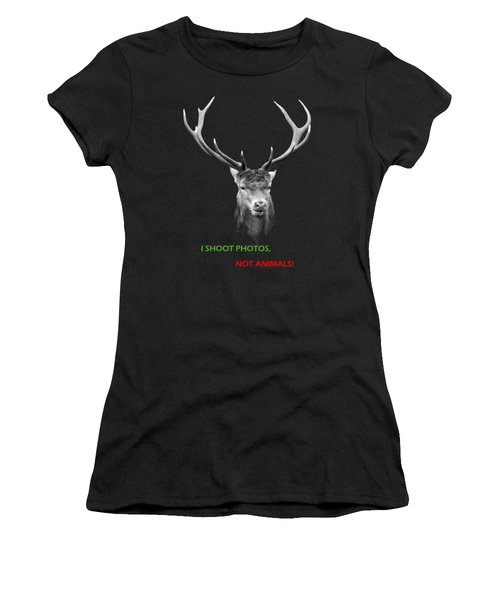 I Shoot Photos Women's T-Shirt (Athletic Fit)