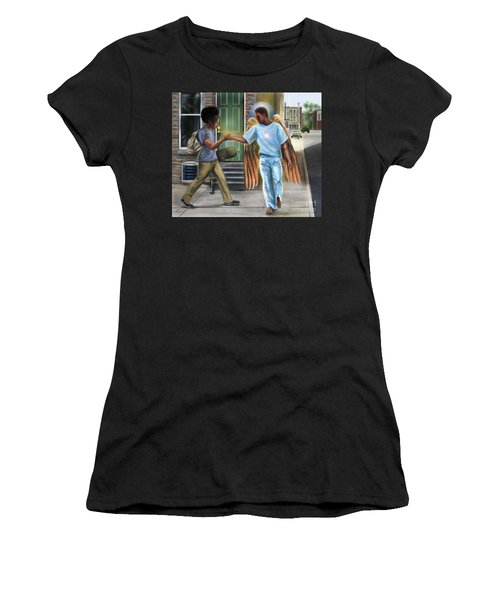 I Walk With Angels Women's T-Shirt