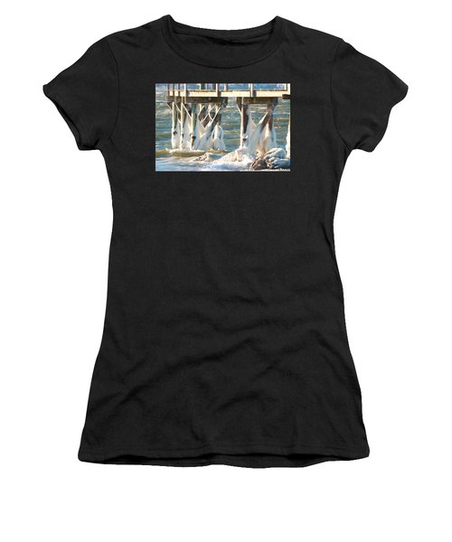 Ice Covered Pilings Women's T-Shirt