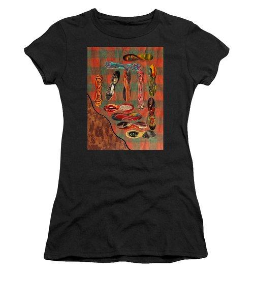 Ice Cream Wooden Sticks Women's T-Shirt (Athletic Fit)