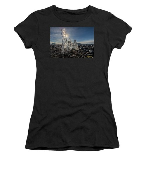Women's T-Shirt (Athletic Fit) featuring the photograph Ice Spires by Rikk Flohr