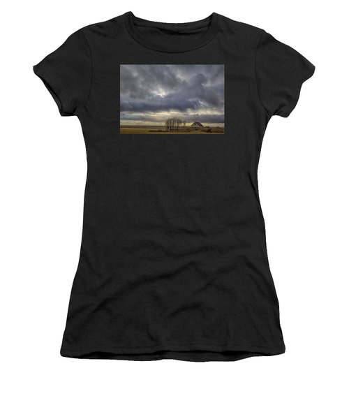 Iceland Buildings Women's T-Shirt (Athletic Fit)