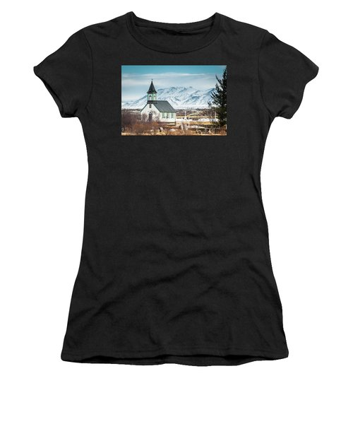 Icelandic Church, Thingvellir Women's T-Shirt