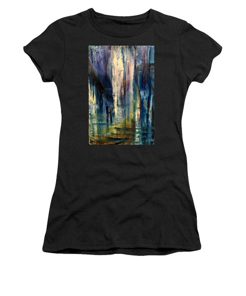 Icy Cavern Abstract Women's T-Shirt (Athletic Fit)