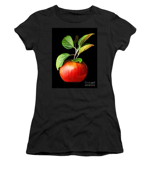 Ida Red Apple And Leaves Women's T-Shirt (Athletic Fit)