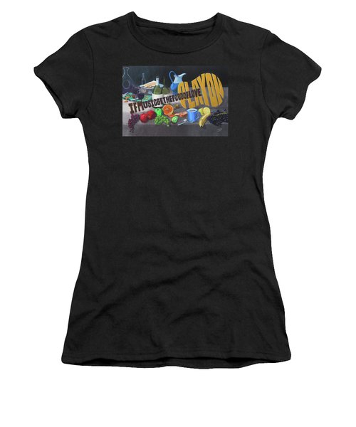 If Music Be The Food Of Love Play On Women's T-Shirt (Athletic Fit)