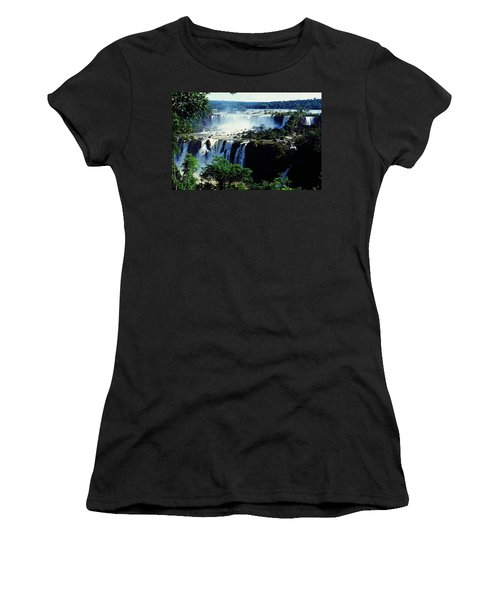 Iguacu Waterfalls Women's T-Shirt (Junior Cut) by Juergen Weiss