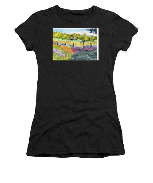 Imagine The Colors Women's T-Shirt (Athletic Fit)