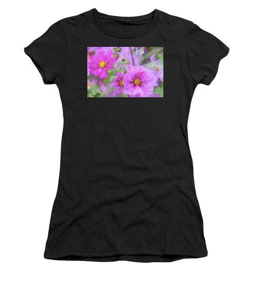 Impasto Cosmos Women's T-Shirt (Athletic Fit)