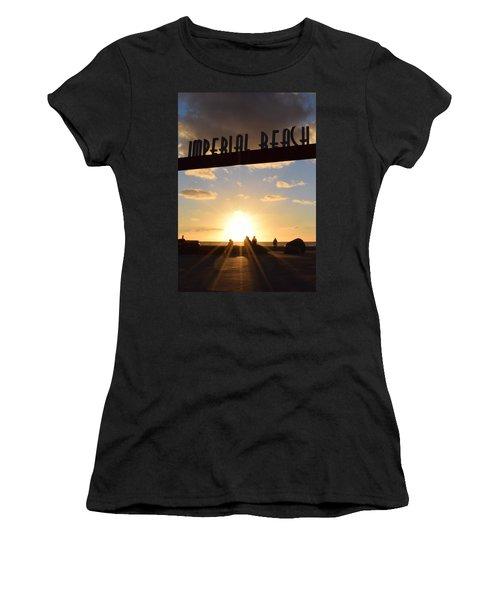 Imperial Beach At Sunset Women's T-Shirt (Junior Cut) by Karen J Shine