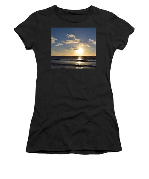 Sunset Reflection At Imperrial Beach Women's T-Shirt (Athletic Fit)