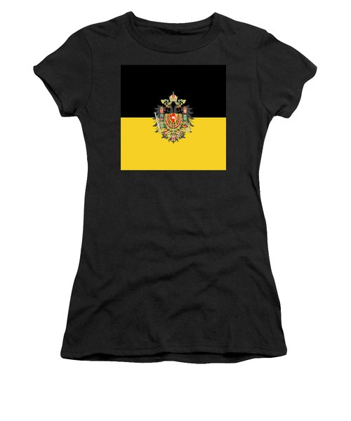 Habsburg Flag With Imperial Coat Of Arms 1 Women's T-Shirt (Athletic Fit)