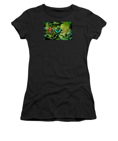 In A Butterfly World Women's T-Shirt (Junior Cut) by Milena Ilieva