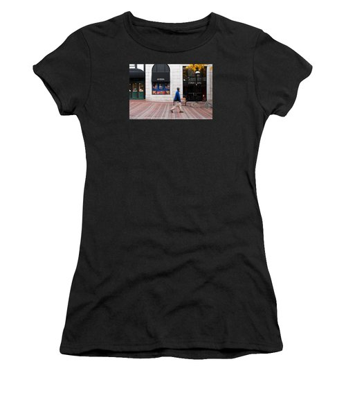 Women's T-Shirt (Junior Cut) featuring the photograph In A Hurry by Monte Stevens