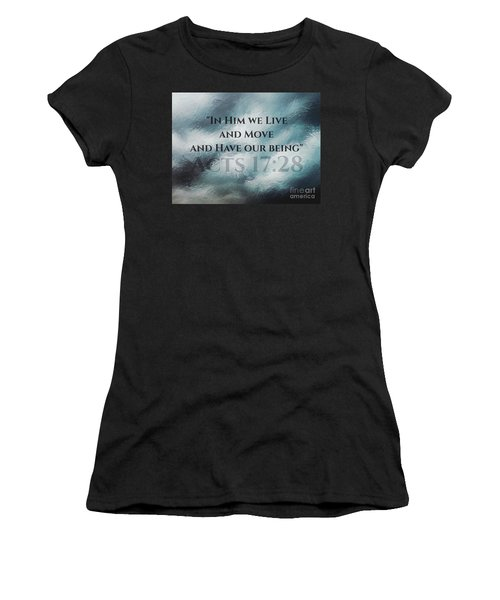 In Him We Live... Women's T-Shirt (Athletic Fit)