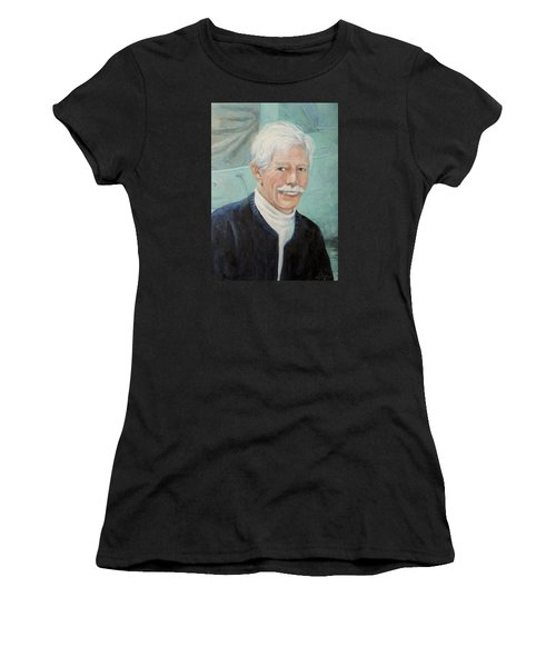 Women's T-Shirt (Junior Cut) featuring the painting In Memory Of Uncle Bud by Donna Tucker