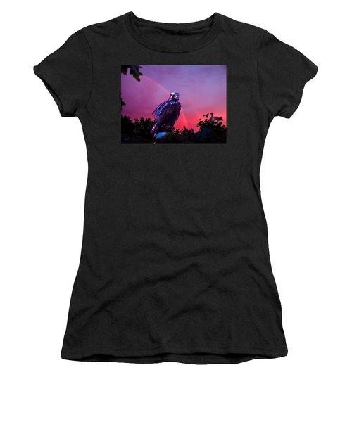In The Eye Of A Hawk Women's T-Shirt (Junior Cut) by Glenn Feron