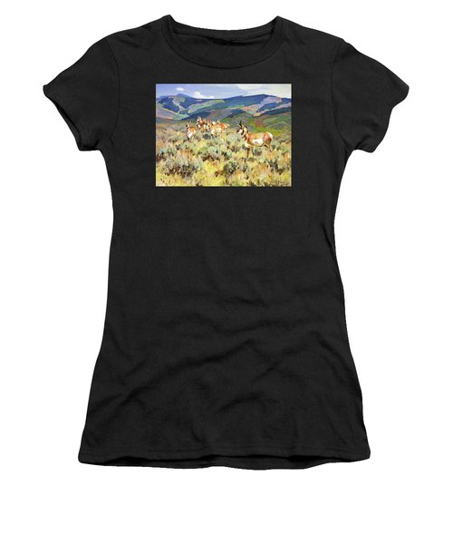 In The Foothills - Antelope Women's T-Shirt (Athletic Fit)