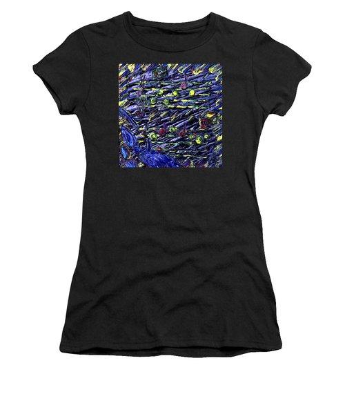 Women's T-Shirt (Junior Cut) featuring the painting In Vasser Und Fayer by Vadim Levin