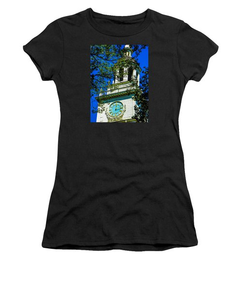 Independence Hall Clock Tower Women's T-Shirt (Athletic Fit)