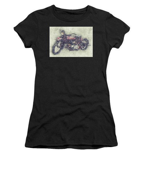 Indian Chief 1 - 1922 - Vintage Motorcycle Poster - Automotive Art Women's T-Shirt