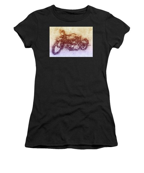 Indian Chief 2 - 1922 - Vintage Motorcycle Poster - Automotive Art Women's T-Shirt