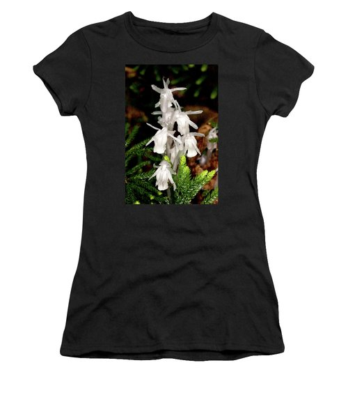 Indian Pipes On Club Moss Women's T-Shirt (Athletic Fit)