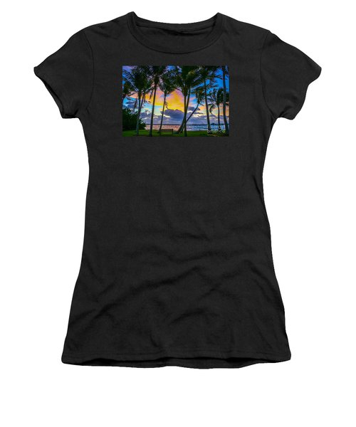 Women's T-Shirt featuring the photograph Indian River Sunrise by Tom Claud